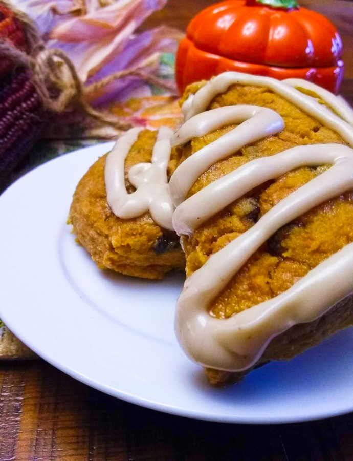 Pumpkin Scones & Maple-Nutmeg Glaze