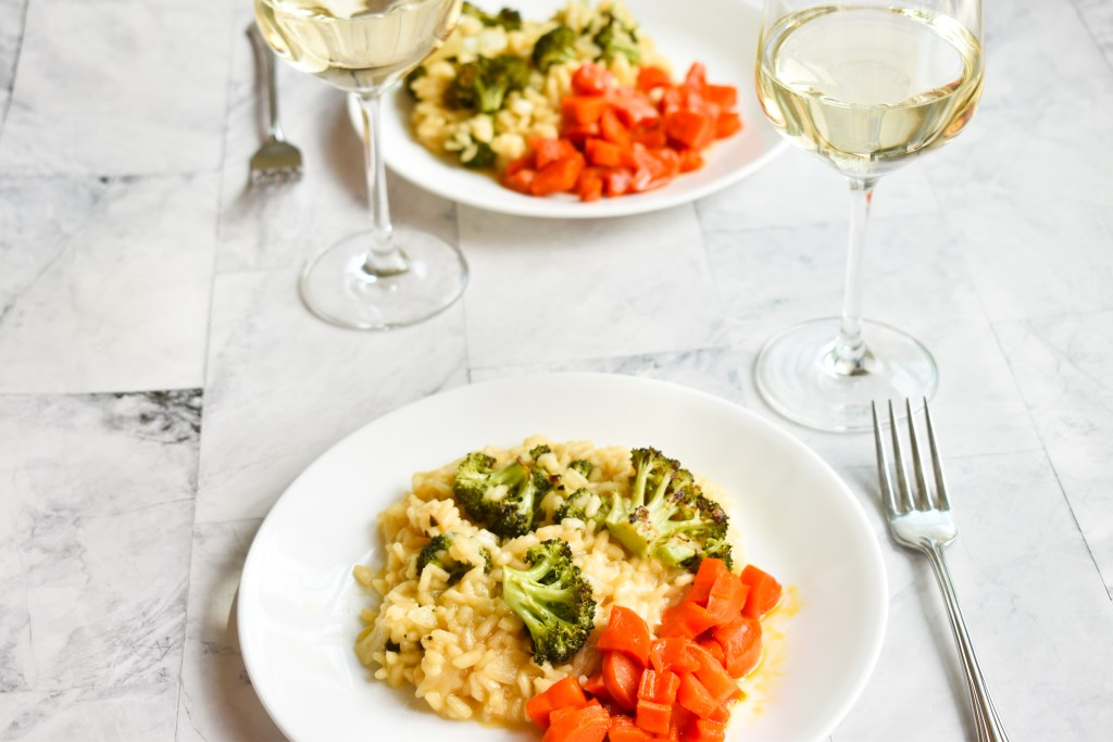Garlic Parmesan Risotto & Broccoli