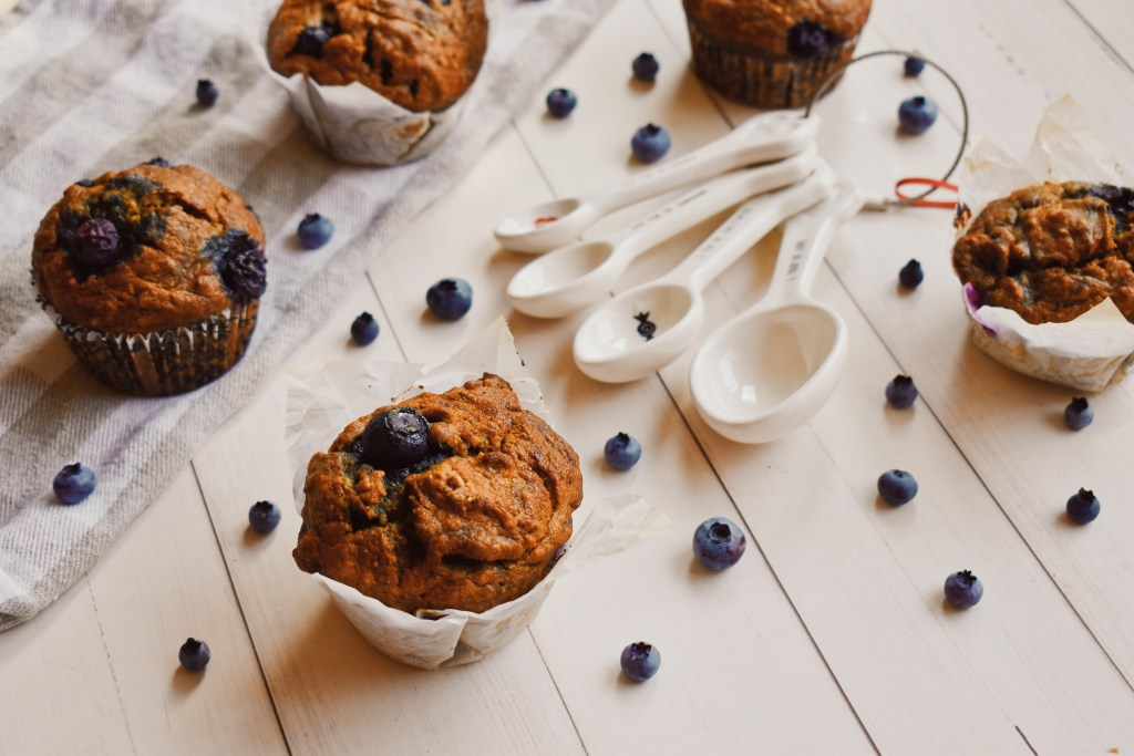 Vegan Blueberry Banana Muffins