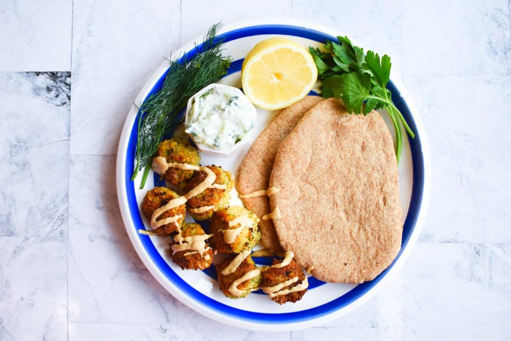 Falafel with Pita & Tzatziki