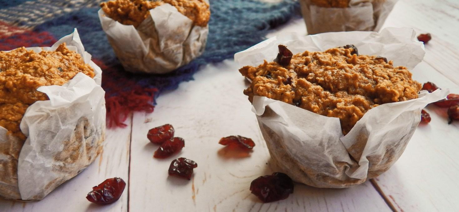 Sweet Potato Cranberry Muffins {Vegan}