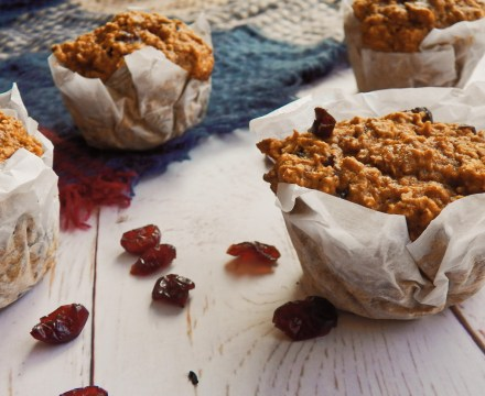 Sweet Potato Cranberry Muffins {Vegan}