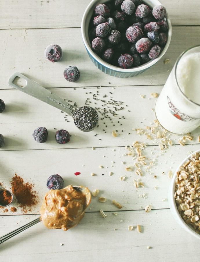 Blueberry Overnight Oats {Low-FODMAP, Gluten Free, Lactose Free}