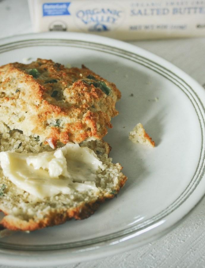 Cheddar Herb Buttermilk Biscuits {Gluten Free}