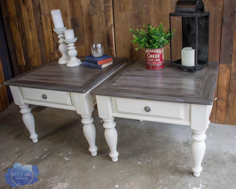 farmhouse end table makeover the barn