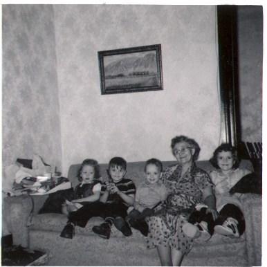 Grandma Clark, Karen, Clark,i Kenny, Margie