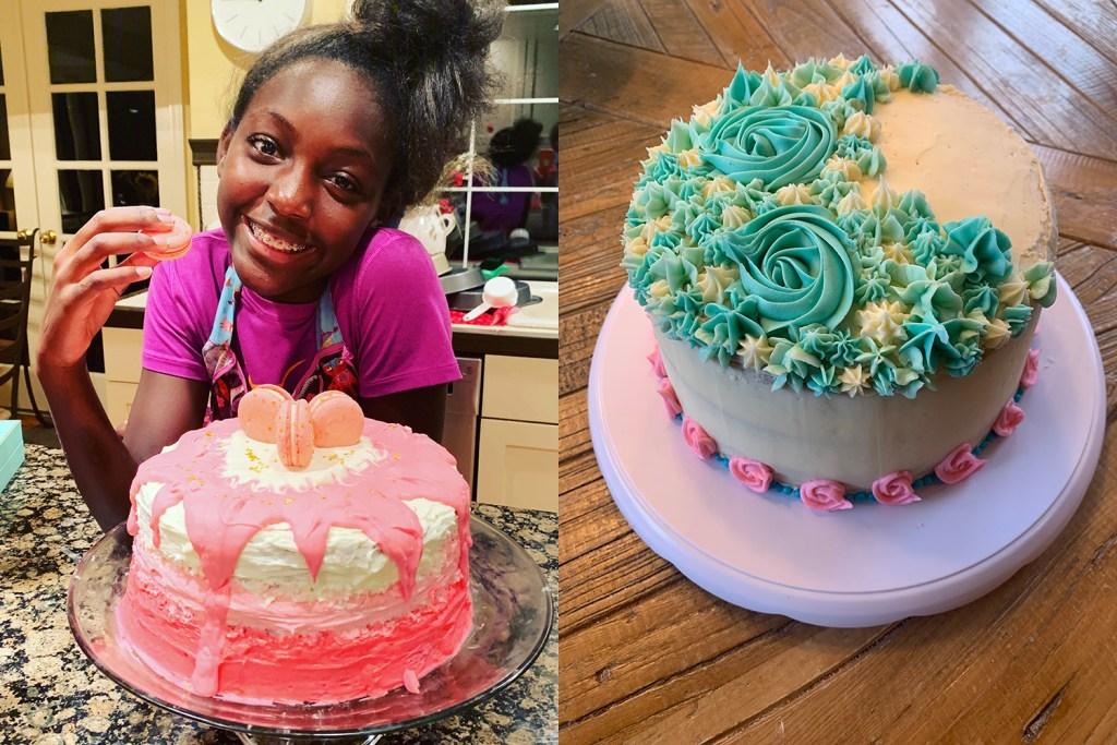 Etta with cake