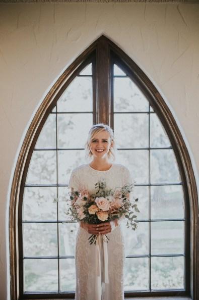 Romantic Organic Wedding Bouquet-Roots Floral Design