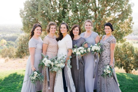 Summer Wedding Bridal Party by Roots Floral Design