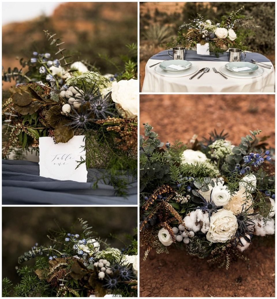 desert flowers table desert wedding ideas