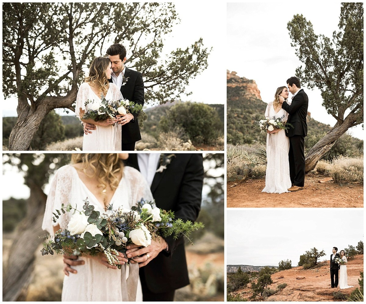 desert wedding elopement sedona arizona