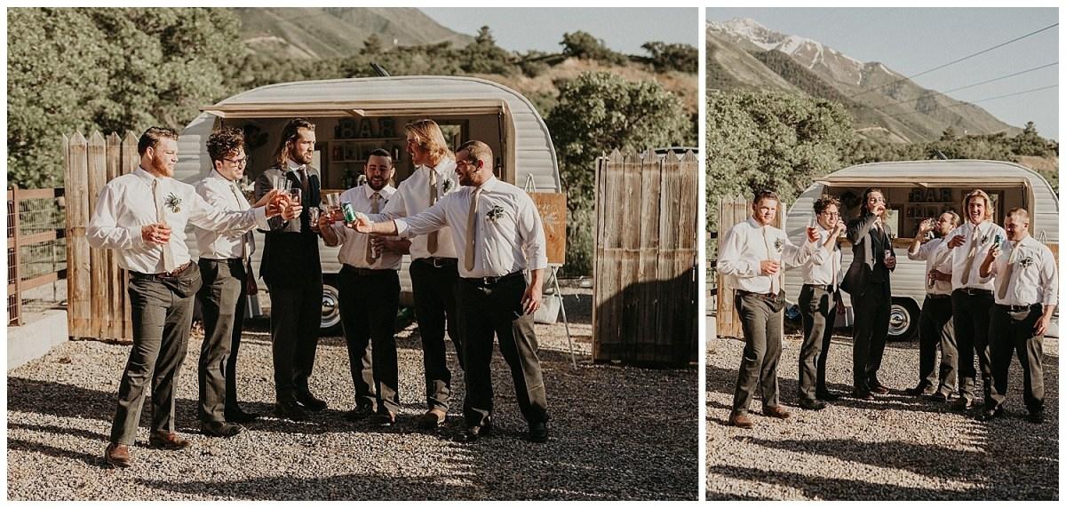 Rustic Summer Wedding | Quiet Meadow Farms | Camper Van Bar