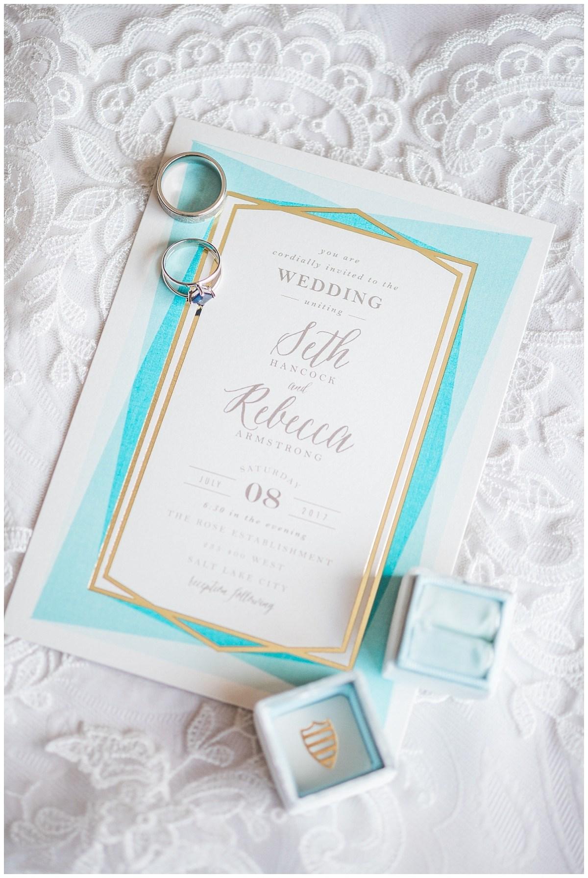 Wedding Ring Shot Invitation