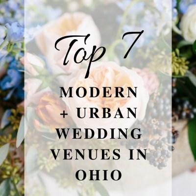 Best Modern and Urban Wedding Venues in Ohio | Ohio Wedding Florist