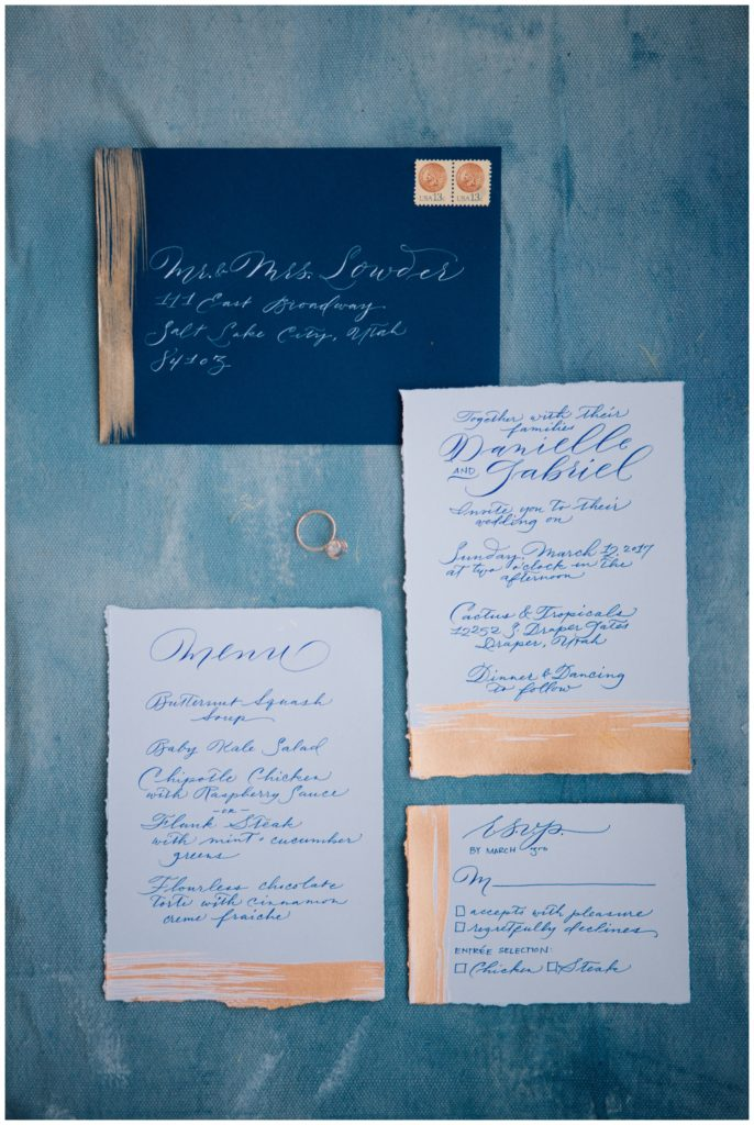 Light Blue Winter Wedding Styled Shoot