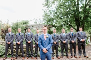 wedding at soserene, soserene wedding, white and blush wedding, groomsmen