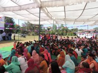 A gathering of mothers and daughters for the Mother-Daughter Fair (Maa Beti Mela) in October in Shahpur.