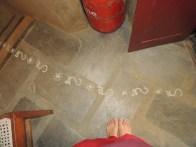 Footprints to guide Laxmi's way.