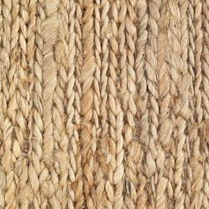 Natural Braid Hemp Rug closeup
