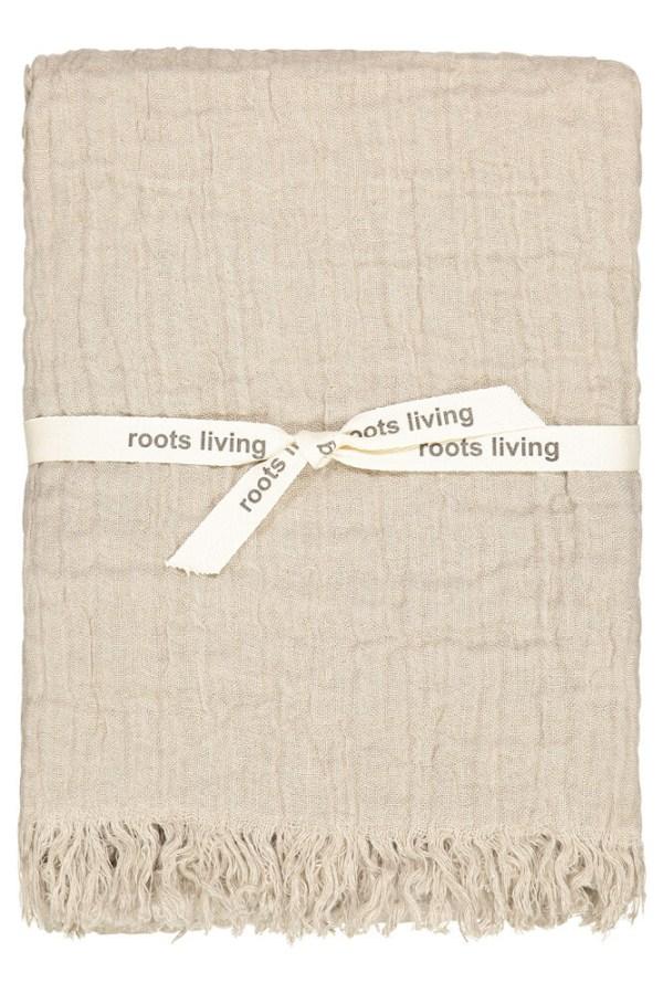 Natural Linen Throw