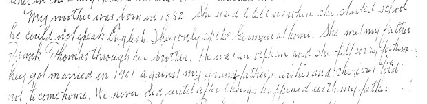 Snippet from letter - Anna and Frank marry