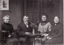 From left to right: Kate, Walter, his niece Gessina, his sister Anna. From the collection of cousin Johanna, used with her permission
