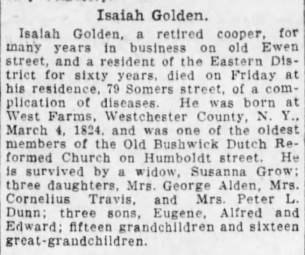 Isaiah James Golden - Obituary