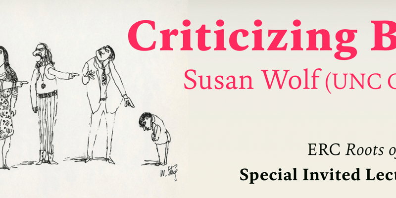Susan Wolf to give special lecture online on November 16