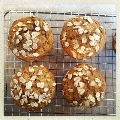 OATMEAL MUFFINS ON WIRE WRACK