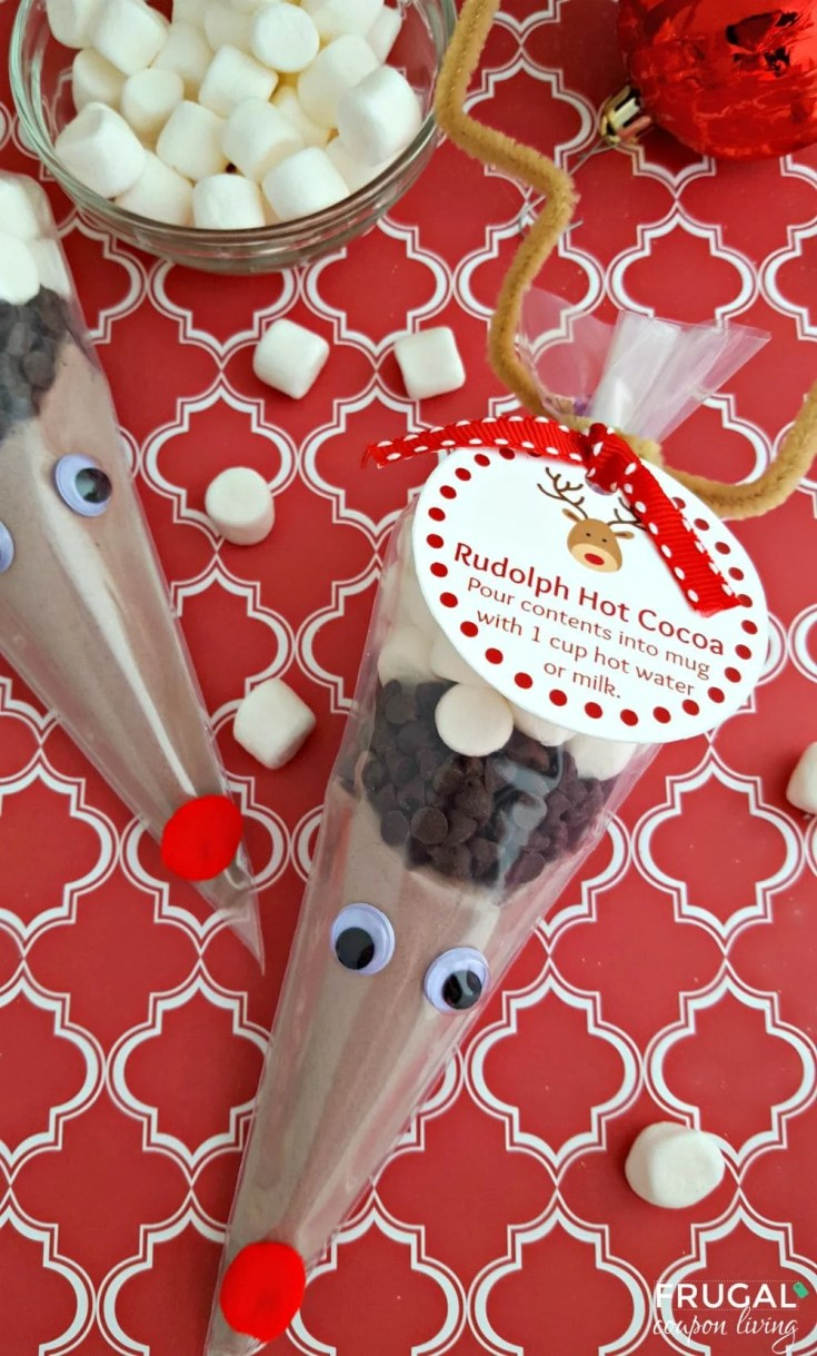 Rudolph Hot Cocoa + FREE Printable Gift Tag