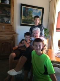 My grand boys and Great Nana