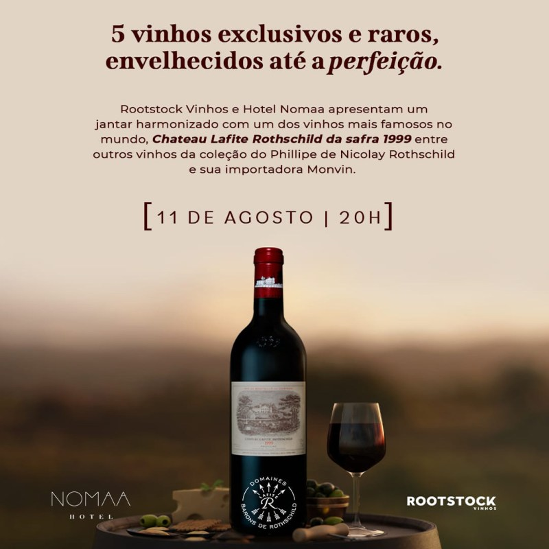 Degustação guiada com Rootstock Vinhos