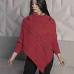 3545-ruana-rojo-mujer-cuello-ingles-mangas-colombiana