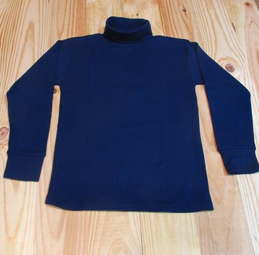 camiseta cuello cisne azul marino
