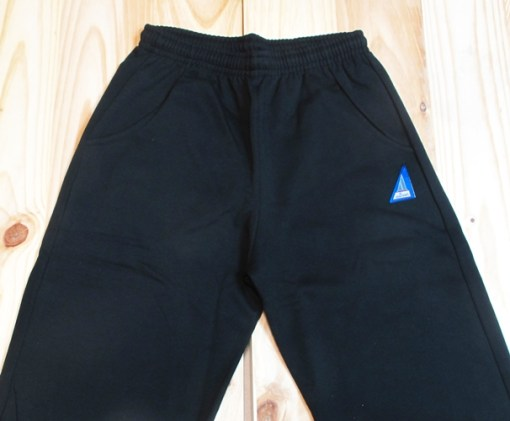 pantalon de chandal algodon felpa negro
