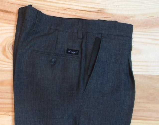 pantalones de vestir para hombre con pinzas marino