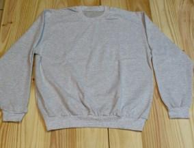 sudadera algodon felpa gris claro delantera