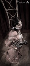 Bound and gagged. (Model hay, Photographer clover)