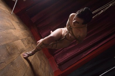Partial balance shibari suspension
