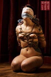 Adreena Winters shibari bondage session.
