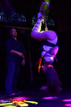 Bondage Expo Dallas 2014, The Church Dallas, Shibari Show with Clover and WykD Dave