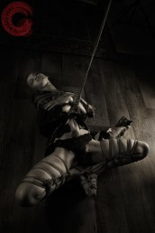Jaia shibari. Floor bondage, waist rope