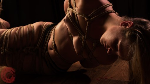 Partial side suspension shibari