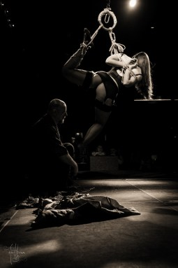 Rope performance at The Church Dallas 2015 after party. Gasshou Gote Suspension show. Photos by Abequilibrium
