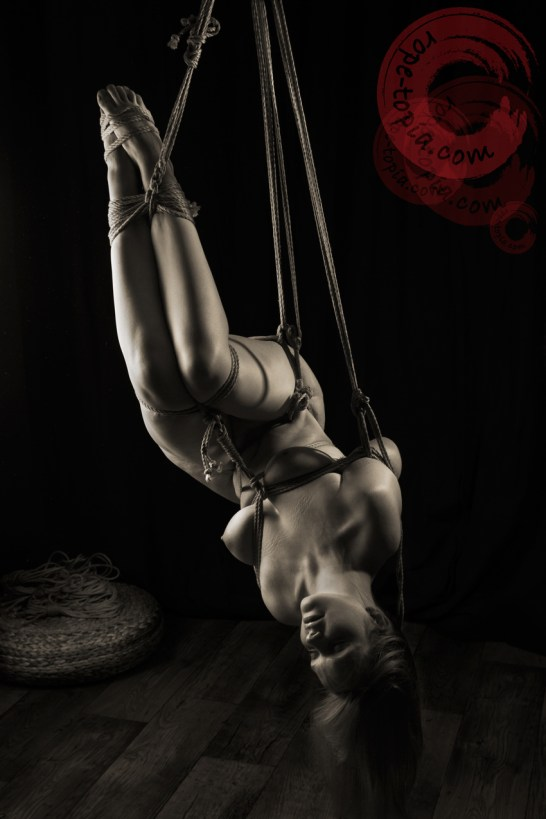 Beautiful shibari bondage suspension