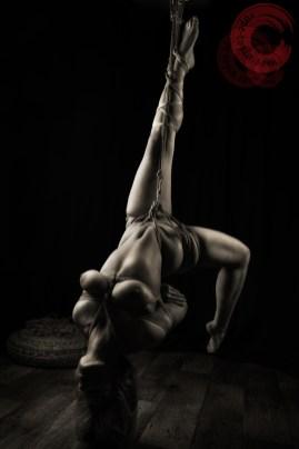 Hip and waist rope harsh shibari suspension bondage