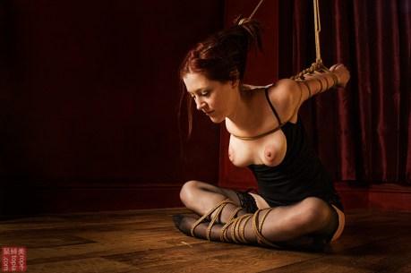 Shibari bondage strappado