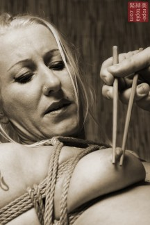 Japanese hashi nipple tease and torture