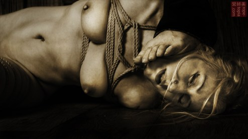 Under foot shibari