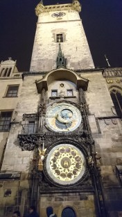 Prague astronomical clock on the old town hall.